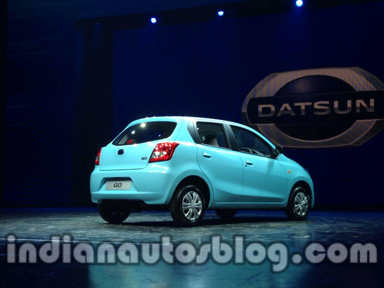 Datsun Go rear three quarter