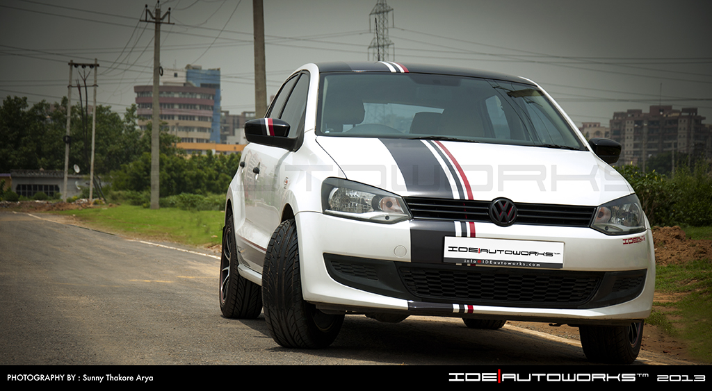 Front of the VW Polo modified by IDE Autoworks