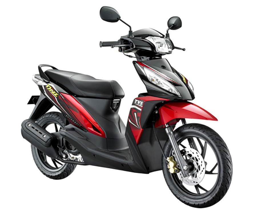 Front right three quarter of the TVS Dazz Indonesia