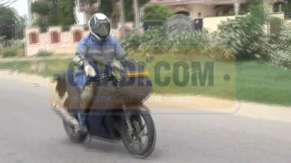 Hero-EBR Sportsbike caught testing in India