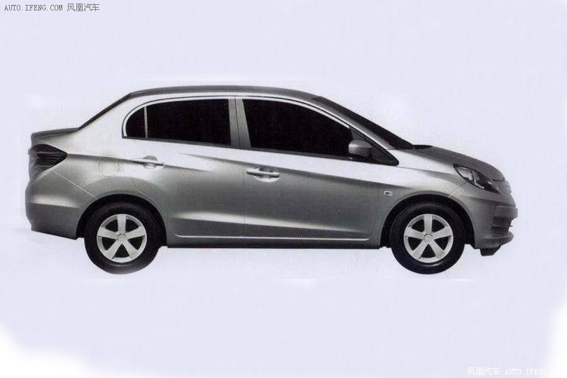 Honda Amaze patented in China side