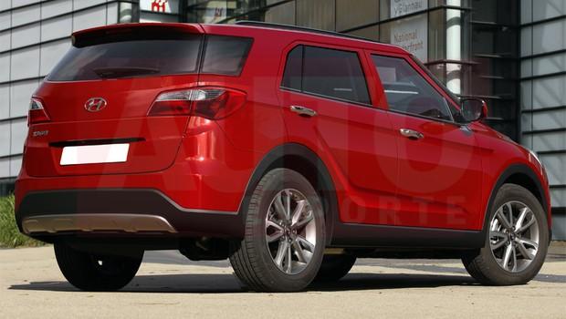 Hyundai mini SUV rendering - rear