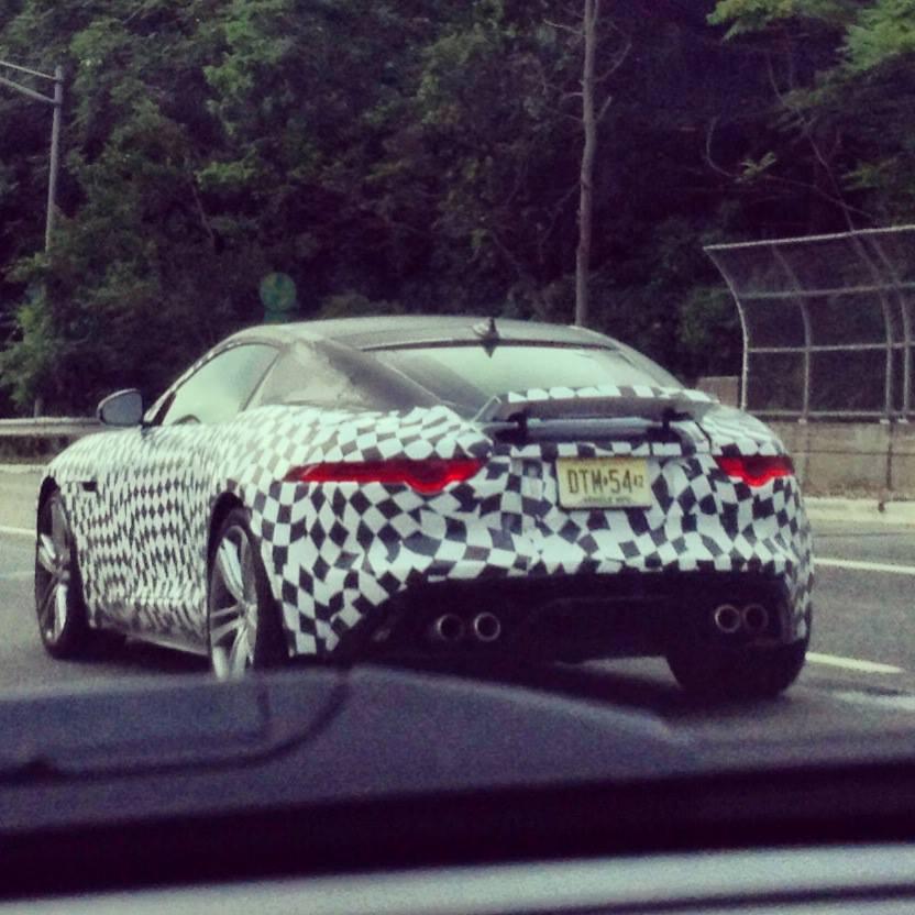 Jaguar F-Type Coupe spied