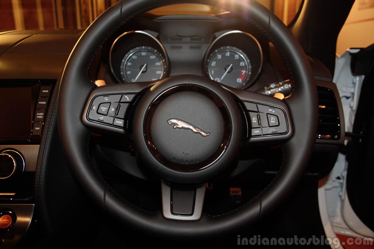 Jaguar F-Type steering wheel