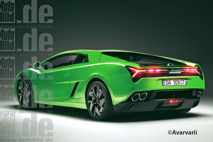 Lamborghini Cabrera rendering rear