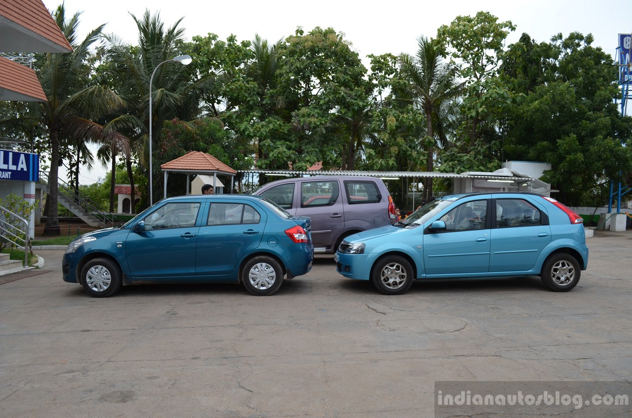 Mahindra Verito Vibe Maruti Swift Dzire size comparison