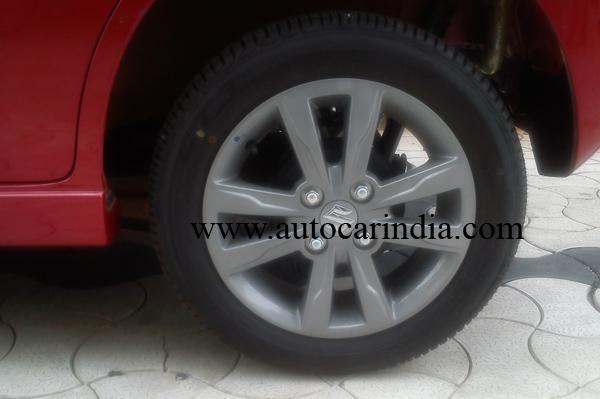 Maruti Wagon R Stingray spied alloy wheel