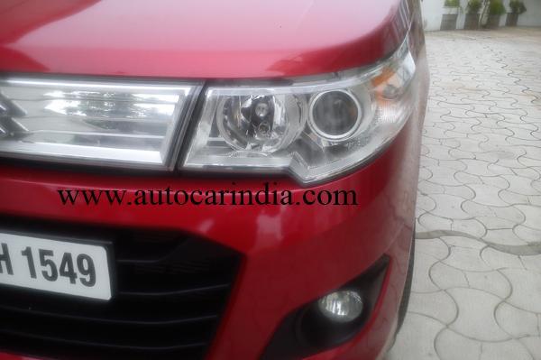 Maruti Wagon R Stingray spied projector headlights