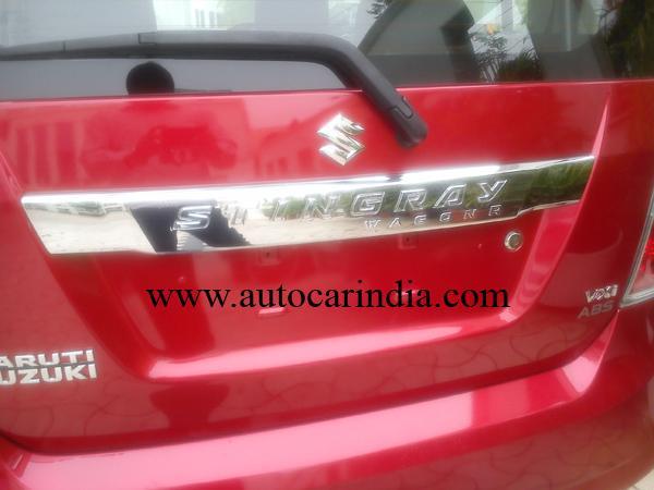 Maruti Wagon R Stingray spied rear logo