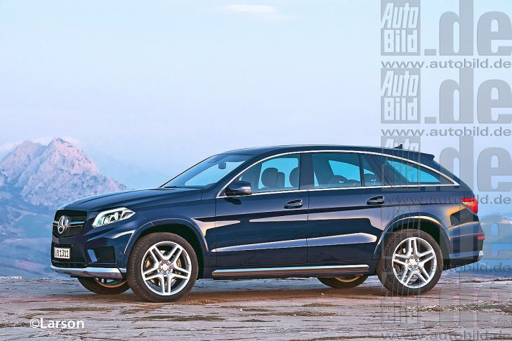 Mercedes GL Coupe GLC rendering