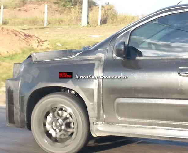 New Fiat Uno facelift spied fender