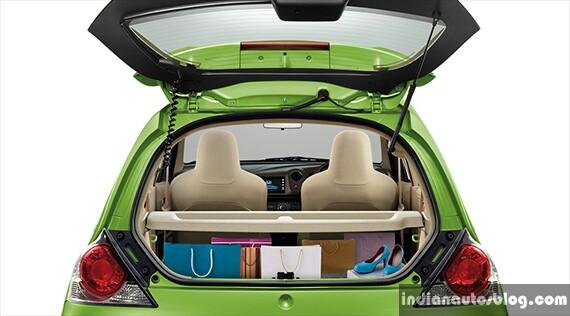 New Honda Brio facelift boot space