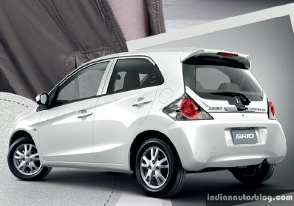 New Honda Brio facelift white rear
