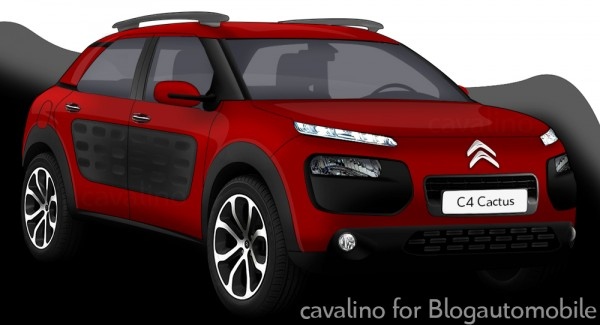 Rendering of the Citroen C4 Cactus production model