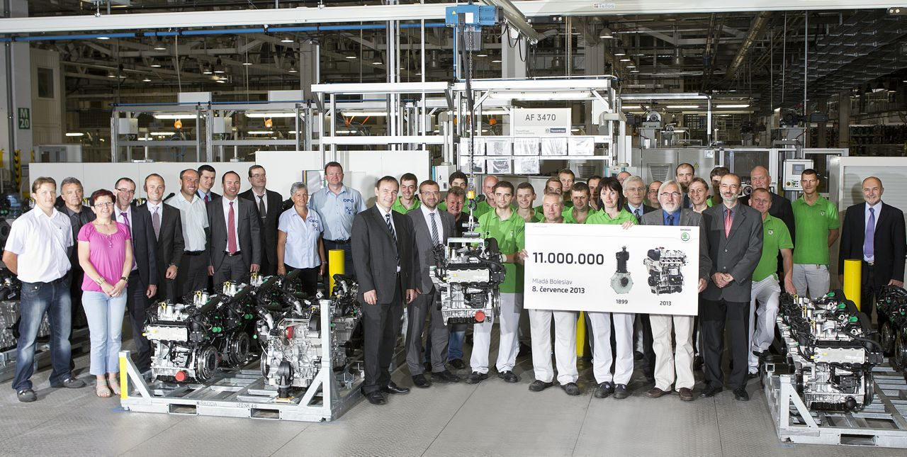 11 millionth engine from Skoda
