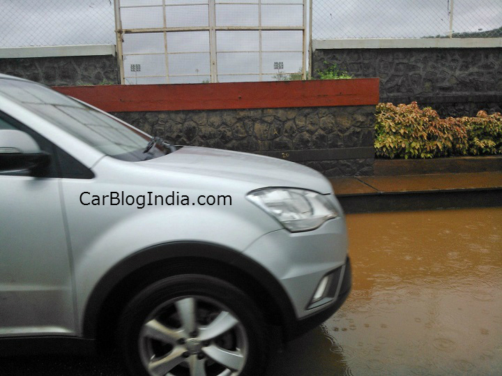 Ssangyong Korando spied in India front fender