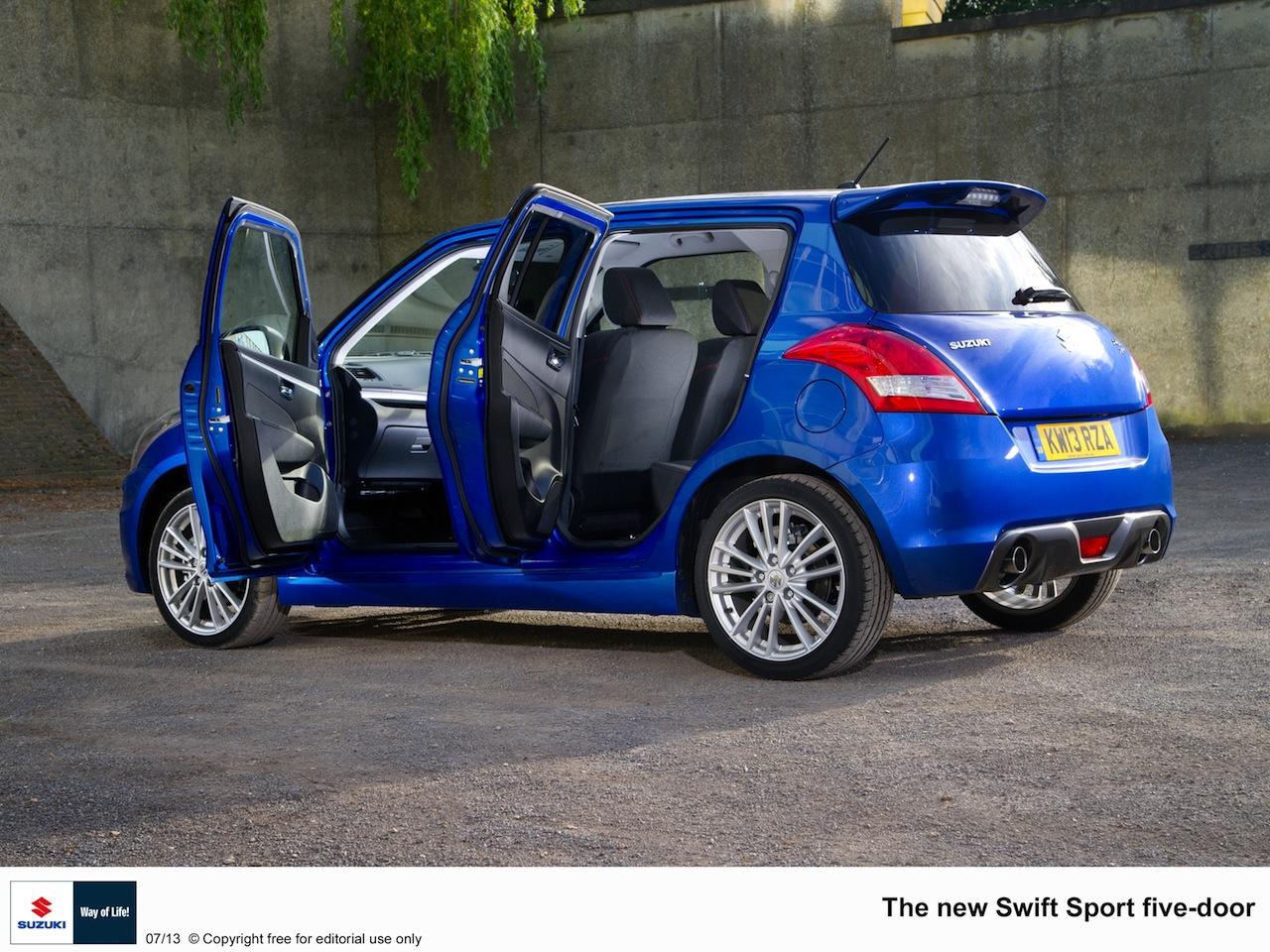Suzuki Swift Sport 5-door doors open