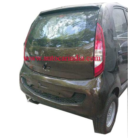 Tata Nano diesel rear with functional rear bootlid