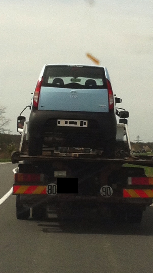 Tata Nano spied in France