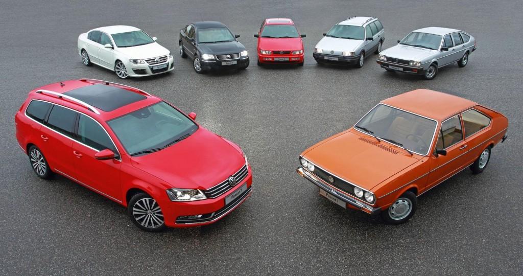VW Passat 40 years seven generations