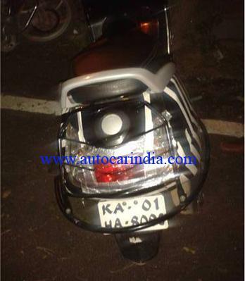 new TVS scooter spied in Bengaluru