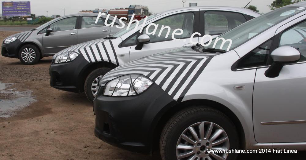 2013 Fiat Linea test mules spied in Pune