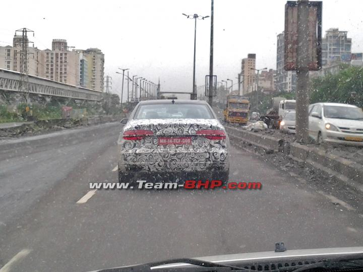 2014 Audi A8 facelift spied India rear