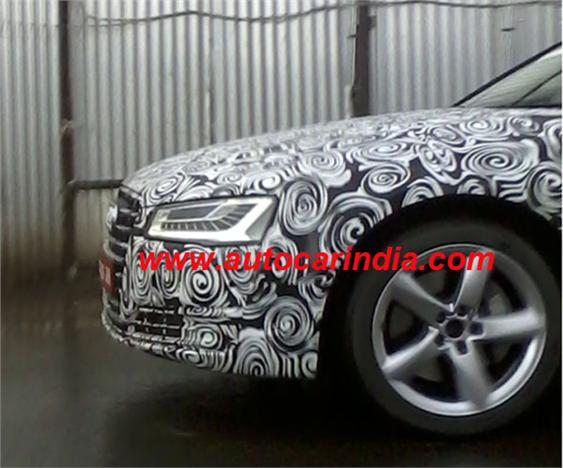 2014 Audi A8 facelift spied in India