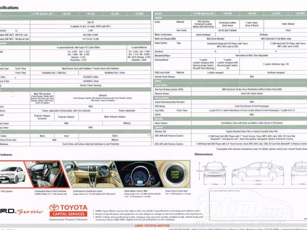 2014 Toyota Vios Malaysia