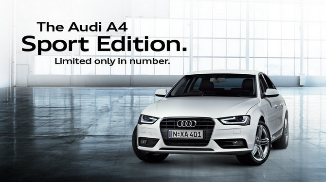 Australia - Audi A4 Sport Edition launched; limited to 250 copies
