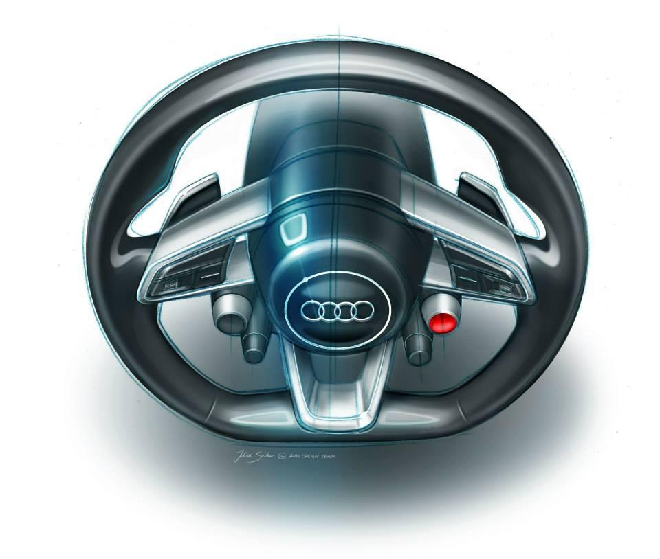 Audi Frankfurt Showcar steering wheel