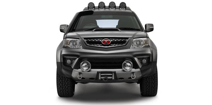 Front of the Tata Xenon Tuff Truck Concept
