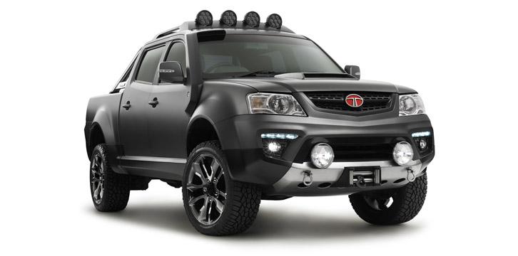 Front three quarter of the Tata Xenon Tuff Truck Concept