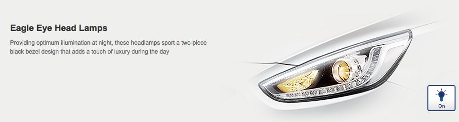Hyundai Verna LED headlamp