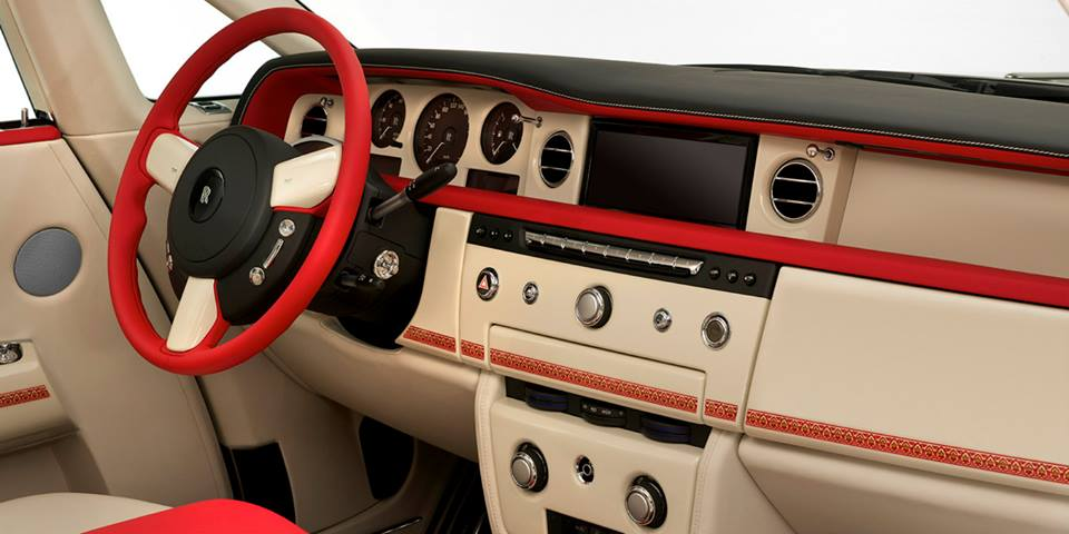 Interior of the Rolls Royce Phantom Coupe Ruby Limited Edition