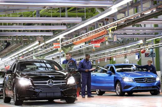 Mercedes A Class production