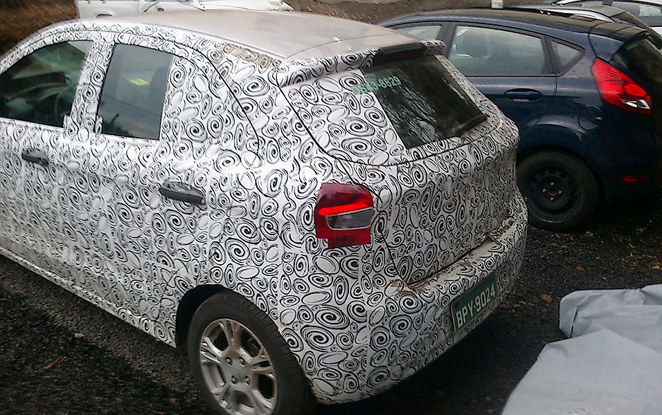 Next generation Ford Figo spied rear