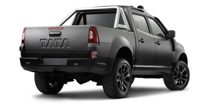 Rear three quarter of the Tata Xenon Tuff Truck Concept