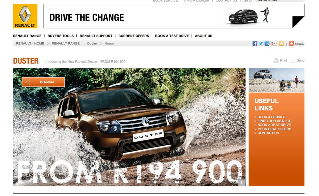 Renault Duster South Africa
