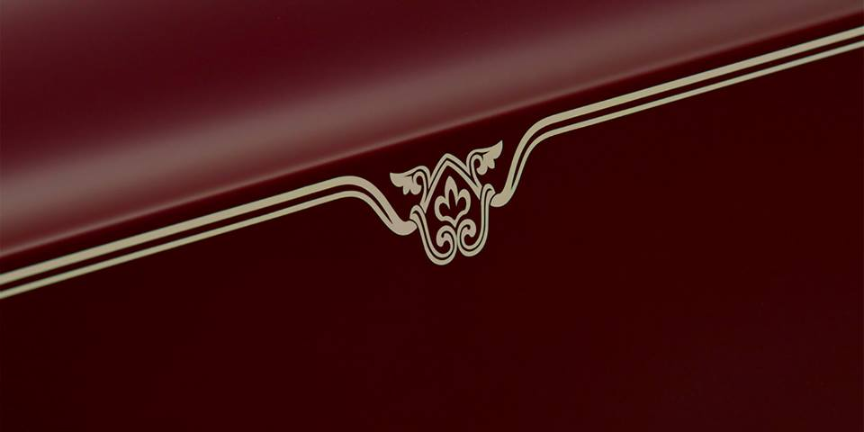 Ruby marquetry in coach line of the Rolls Royce Phantom Coupe Ruby Limited Edition