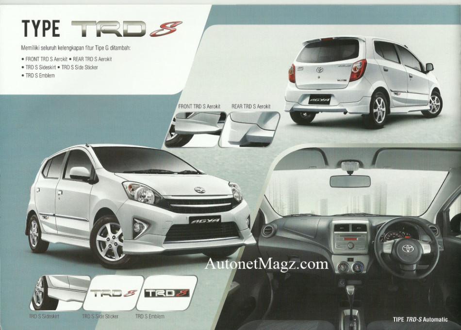 Toyota Agya TRD S variant details