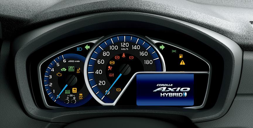 Toyota Corolla Axio Hybrid Japan - instrument console