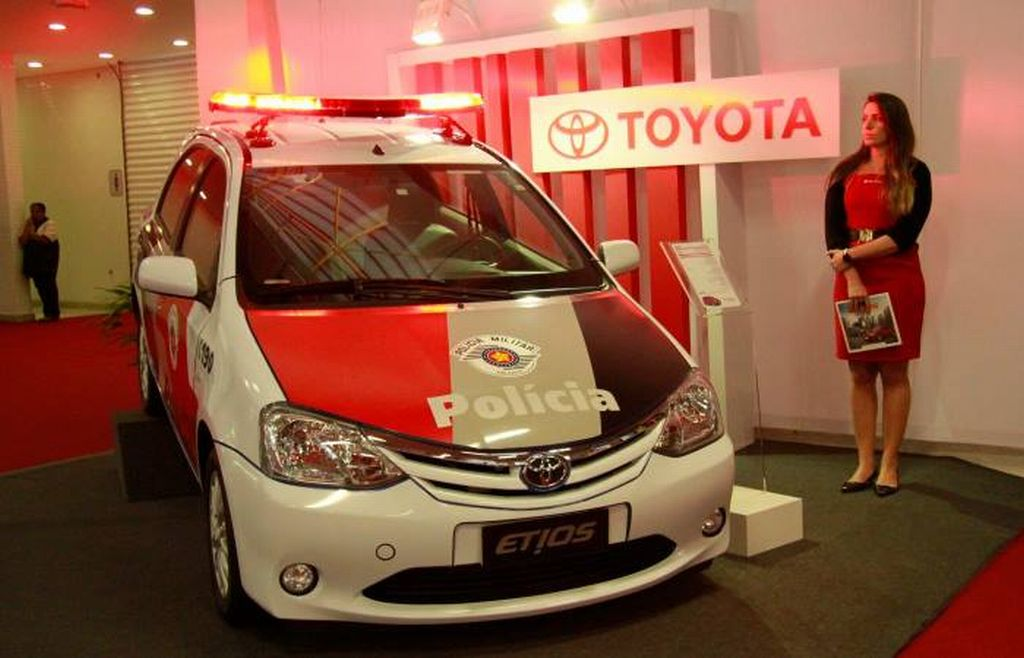 Toyota Etios hatchback Military police car in Brazil