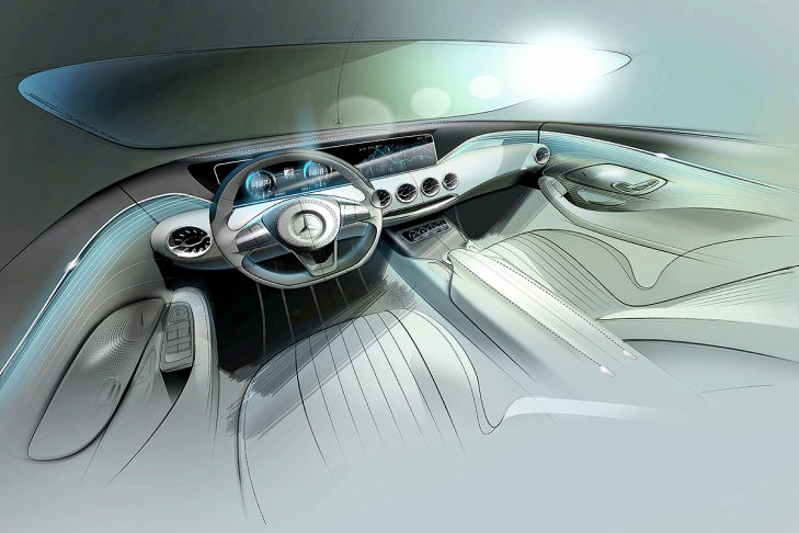 2014 Mercedes Benz S Class coupe interiors