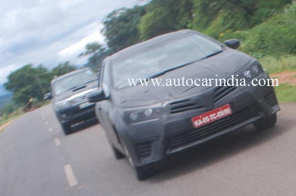 2014 Toyota Corolla spied in India - Front