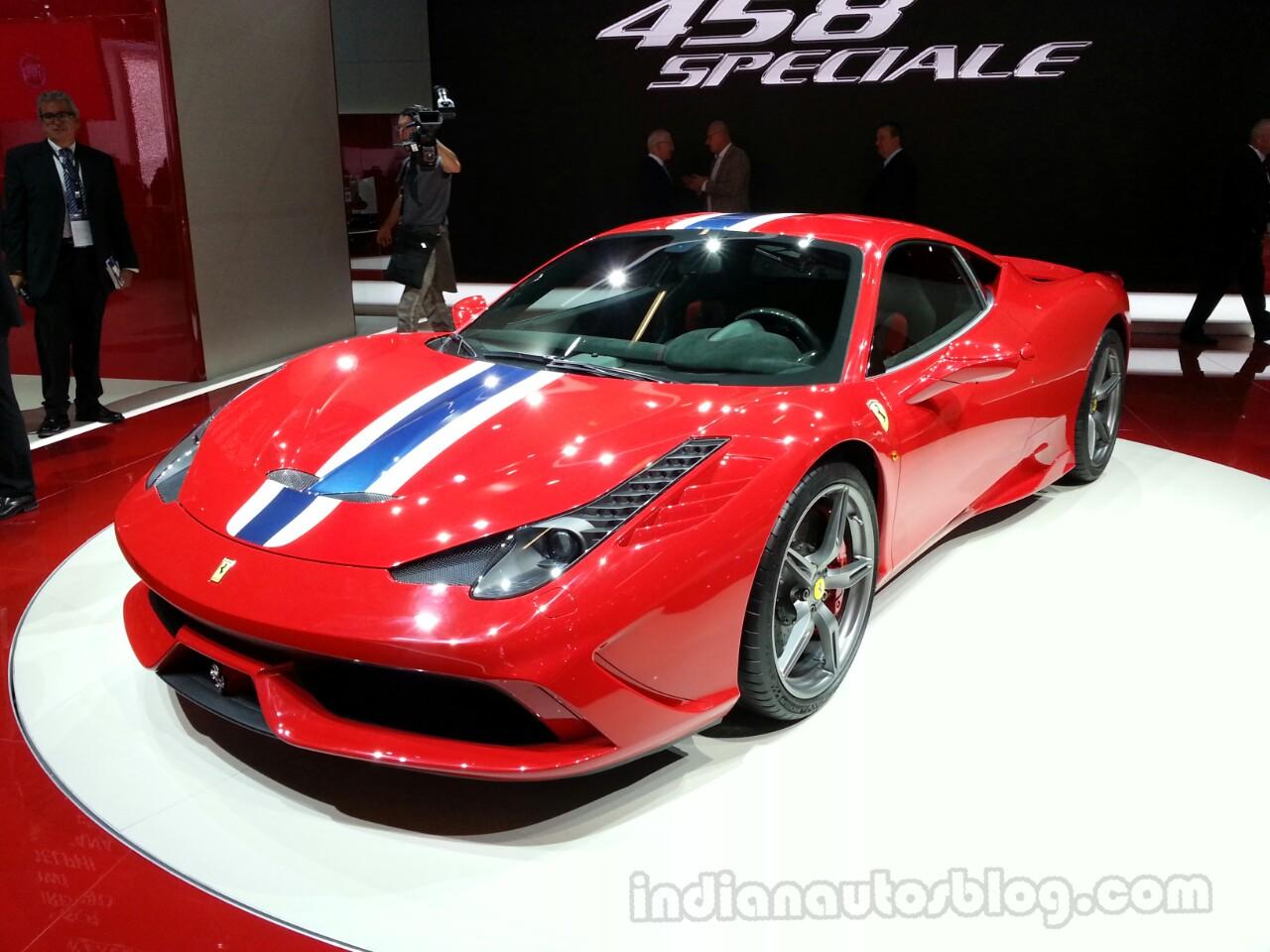 Ferrari 458 Speciale Front Profile