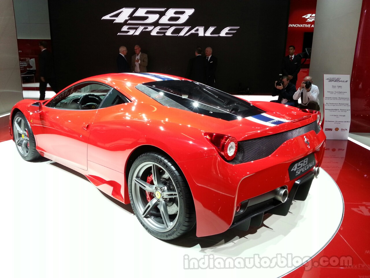 Ferrari 458 Speciale Rear Left