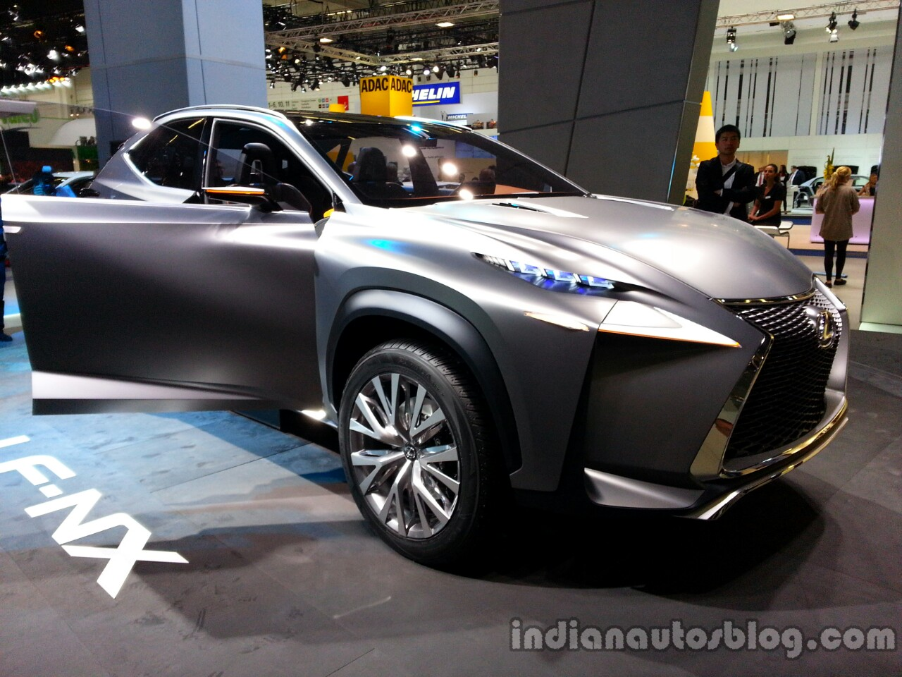 Front three quarter of the Lexus LF-NX Concept