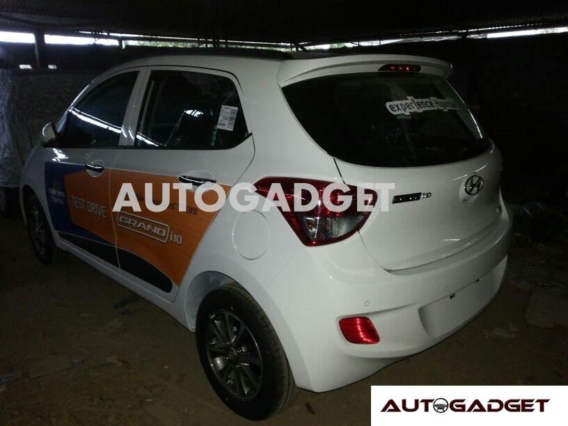 Hyundai Grand i10 dealer yard spyshot
