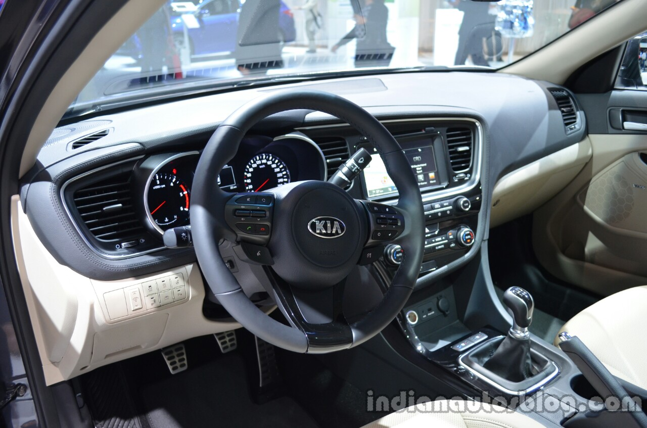 Interior of the 2014 Kia Optima